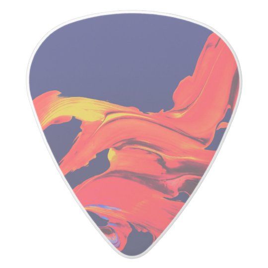 Abstract Guitar Pick White Delrin Guitar Pick