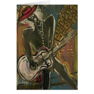 Abstract Guitarist V Card