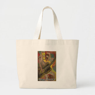 abstract guitarist VI Tote Bags