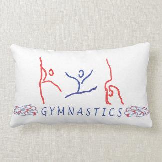 Abstract Gymnastics Lumbar Pillow