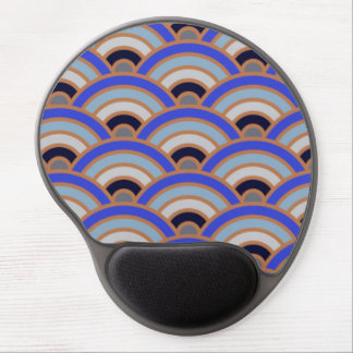 Abstract half circle background gel mouse pad