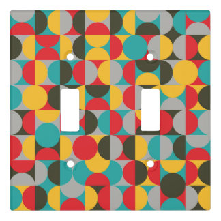 Abstract Half Circle patttern Light Switch Cover