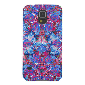 Abstract hand drawing boho pattern with birds galaxy s5 cover
