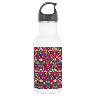 Abstract hand drawn colorful pattern. 532 ml water bottle