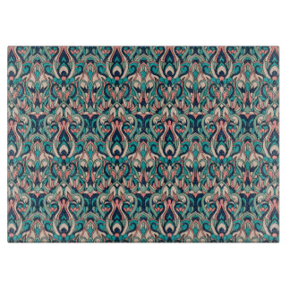 Abstract hand drawn colorful pattern. boards