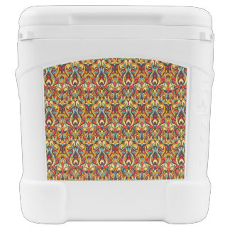 Abstract hand drawn colorful pattern. cooler