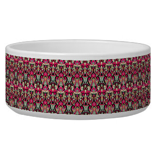 Abstract hand drawn colorful pattern. pet food bowl