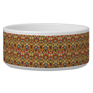 Abstract hand drawn colorful pattern. pet water bowl