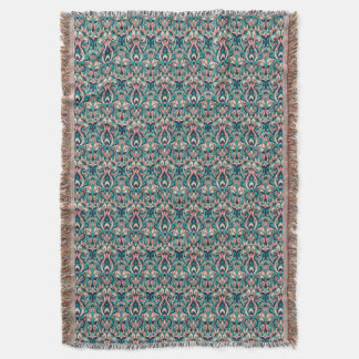 Abstract hand drawn colorful pattern. throw blanket