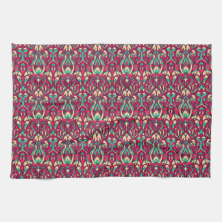 Abstract hand drawn colorful pattern. towels