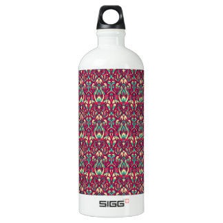 Abstract hand drawn colorful pattern. water bottle