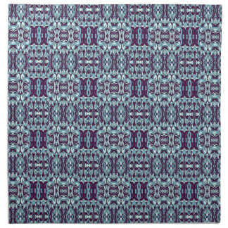 Abstract hand drawn pattern. Blue color. Napkin
