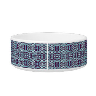 Abstract hand drawn pattern. Blue color. Pet Food Bowl