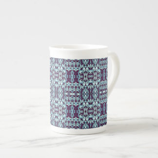 Abstract hand drawn pattern. Blue color. Tea Cup