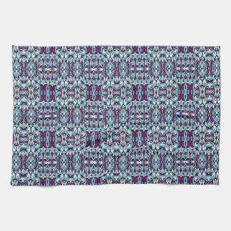 Abstract hand drawn pattern. Blue color. Towel