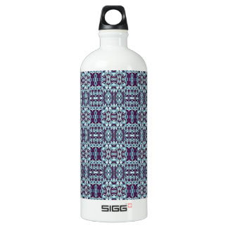 Abstract hand drawn pattern. Blue color. Water Bottle