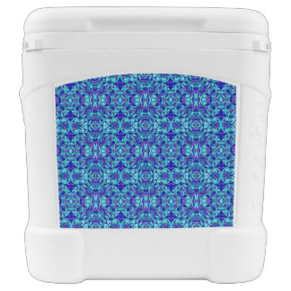 Abstract hand-drawn pattern. Blue cyan color. Cooler