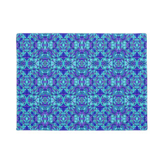 Abstract hand-drawn pattern. Blue cyan color. Doormat