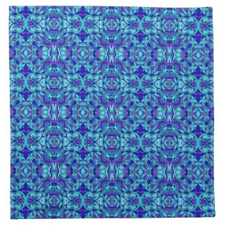 Abstract hand-drawn pattern. Blue cyan color. Napkin