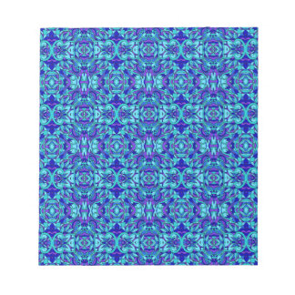Abstract hand-drawn pattern. Blue cyan color. Notepad
