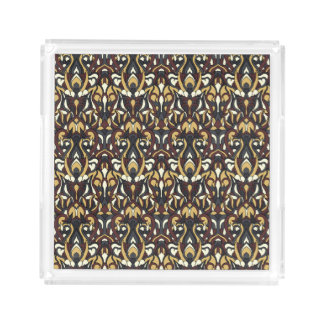Abstract hand drawn pattern. Brown color. Acrylic Tray