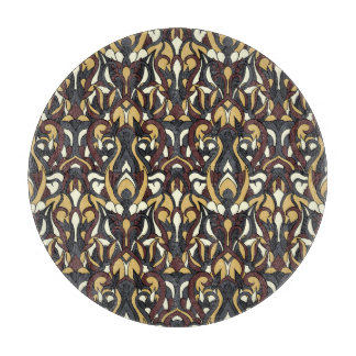Abstract hand drawn pattern. Brown color. Boards