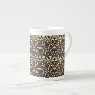 Abstract hand drawn pattern. Brown color. Tea Cup