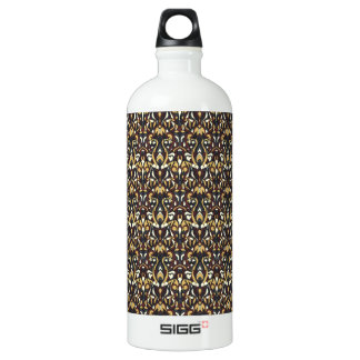 Abstract hand drawn pattern. Brown color. Water Bottle