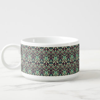Abstract hand drawn pattern. Green colors. Bowl