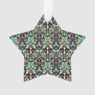 Abstract hand drawn pattern. Green colors. Ornament