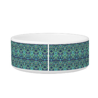 Abstract hand drawn pattern. Green cyan colors. Bowl