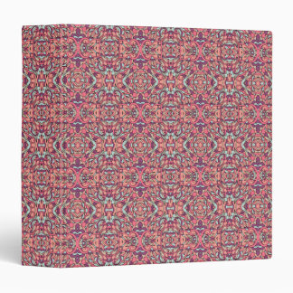 Abstract hand drawn pattern. Pink color. 3 Ring Binder
