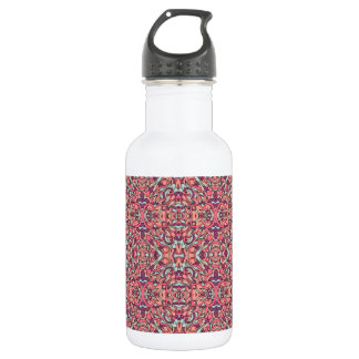 Abstract hand drawn pattern. Pink color. 532 Ml Water Bottle