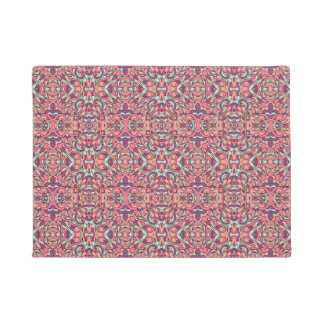 Abstract hand drawn pattern. Pink color. Doormat
