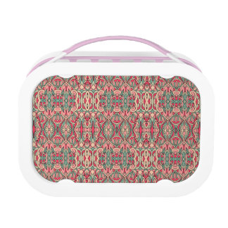 Abstract hand drawn pattern. Pink color. Lunch Box