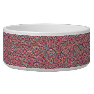 Abstract hand drawn pattern. Pink color. Pet Food Bowls