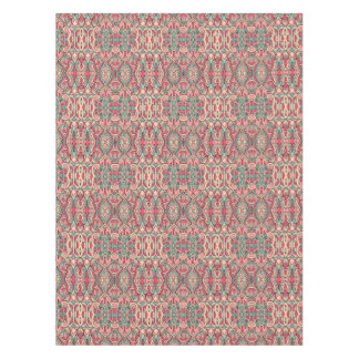 Abstract hand drawn pattern. Pink color. Tablecloth