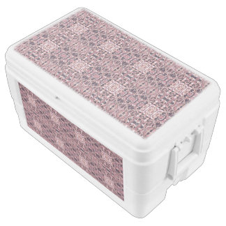 Abstract hand drawn pattern. Pink violet colors. Chest Cooler