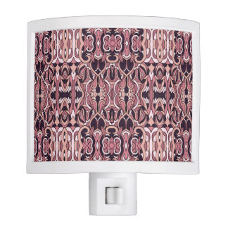 Abstract hand drawn pattern. Pink violet colors. Nite Lights