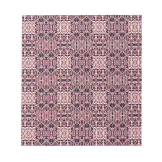 Abstract hand drawn pattern. Pink violet colors. Notepad