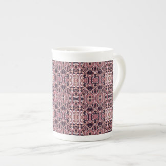 Abstract hand drawn pattern. Pink violet colors. Tea Cup