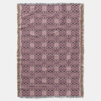 Abstract hand drawn pattern. Pink violet colors. Throw Blanket
