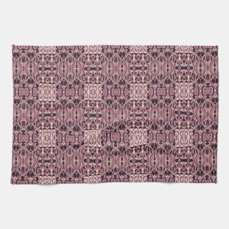Abstract hand drawn pattern. Pink violet colors. Towels