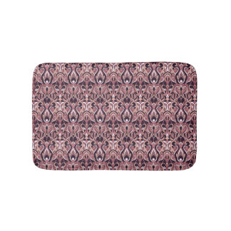 Abstract hand drawn pattern. Purple color. Bath Mat