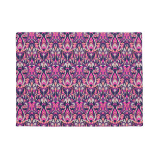 Abstract hand drawn pattern. Purple color. Doormat