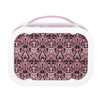 Abstract hand drawn pattern. Purple color. Lunchbox