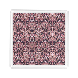 Abstract hand drawn pattern. Purple color. Perfume Tray