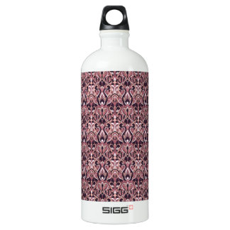 Abstract hand drawn pattern. Purple color. Water Bottle