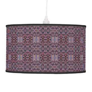 Abstract hand drawn pattern. Purple colors. Pendant Lamp