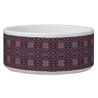 Abstract hand drawn pattern. Purple colors. Pet Food Bowls